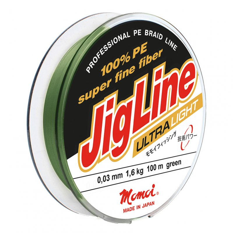 Плетеный шнур JigLine Ultra Light 100м, цвет хаки